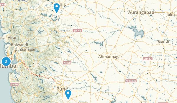 Maharashtra, India Map