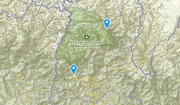 Sikkim, India Map