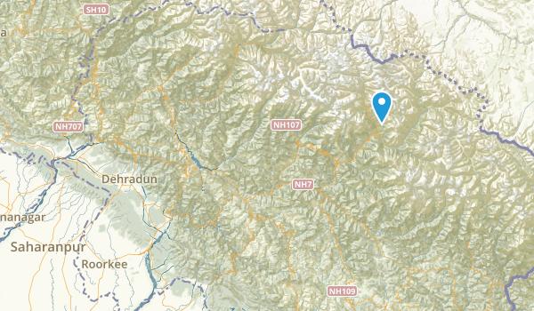Uttaranchal, India Map