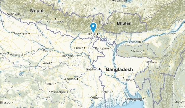 West Bengal, India Cities Map