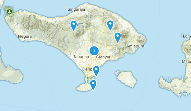 Bali, Indonesia Cities Map