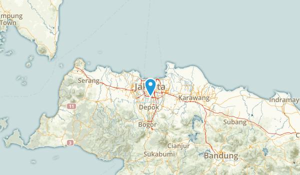 Jakarta Raya, Indonesia Map