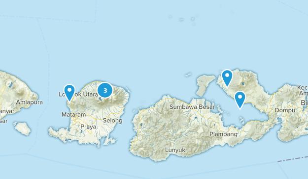 Sumbawa, Indonesien Cities Map