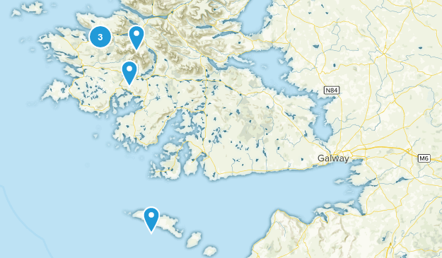 Galway County, Ireland Map