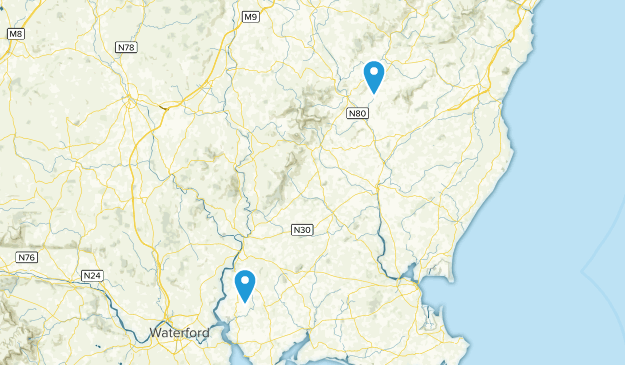 Wexford County, Ireland Cities Map