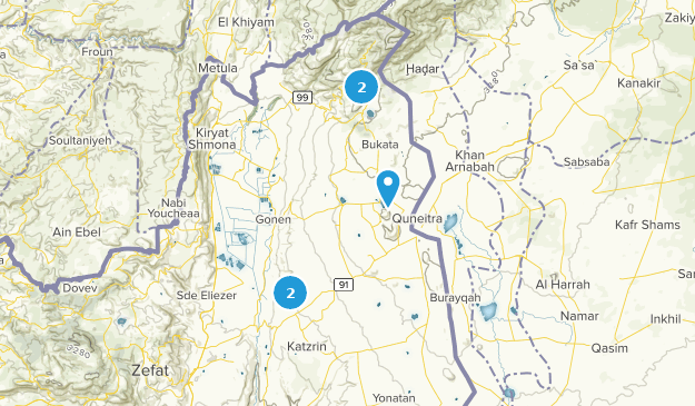 Golan Heights, Israel Cities Map