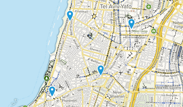 Gusch Dan, Israel Cities Map