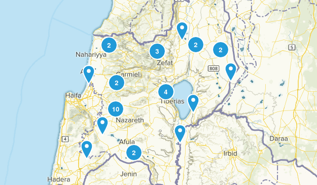 HaZafon, Israel Cities Map