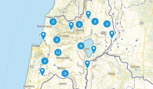 HaZafon, Israel Map
