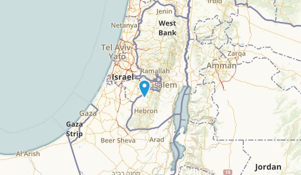 Jerusalem District, Israel Map