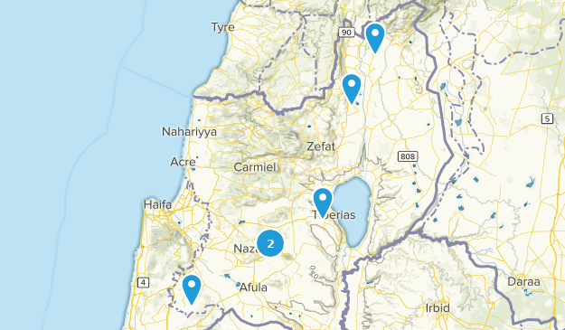Northern, Israel Cities Map