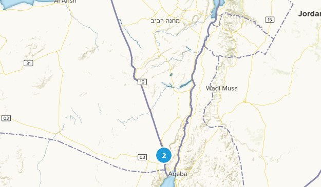 Southern, Israel Cities Map