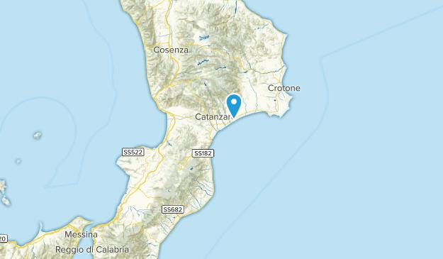 Calabria, Italien Map