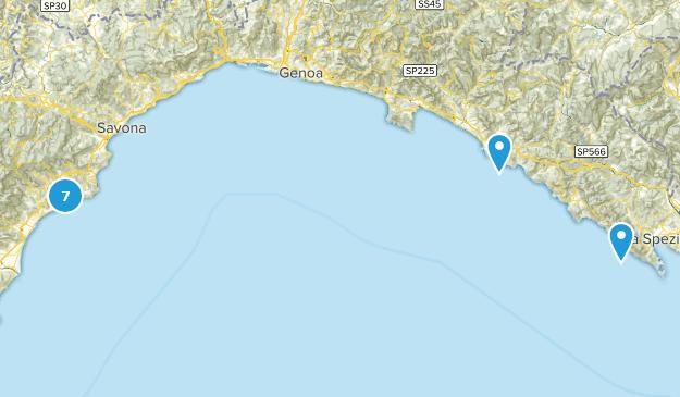 Liguria, Italy Cities Map