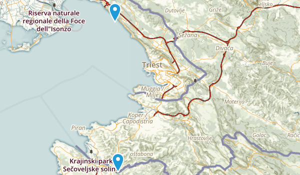 Trieste, Italy Map