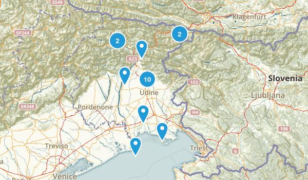Udine, Italy Map