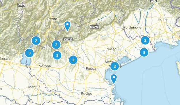 Veneto, Italy Cities Map
