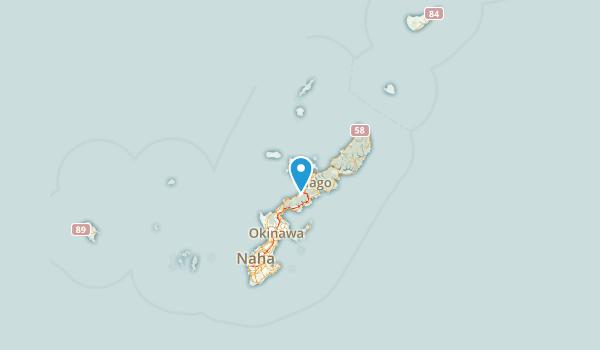 沖縄県, Japan Map