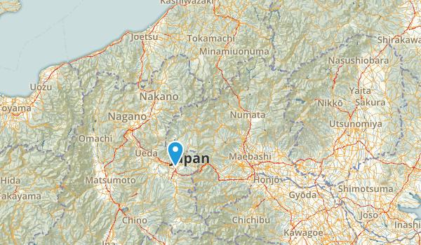 群馬県, Japan Map