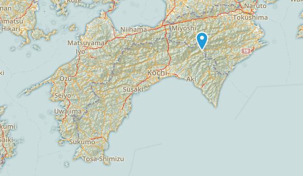 高知県, Japan Map