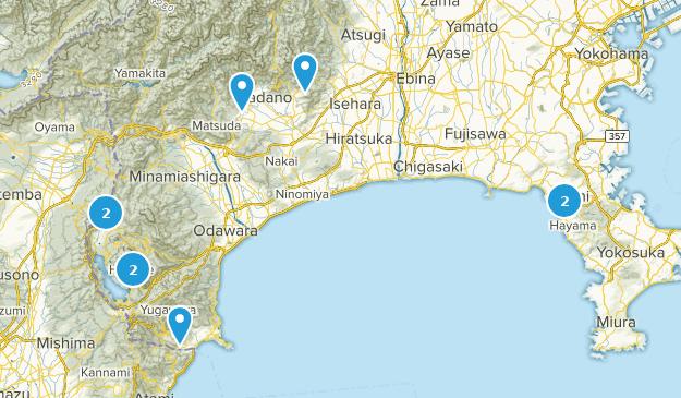 Kanagawa, Japan Cities Map