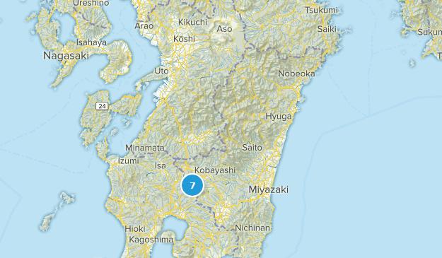 Miyazaki, Japan Map
