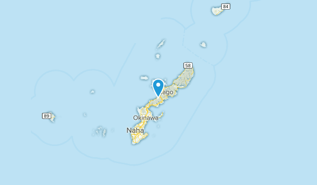 Okinawa Prefecture, Japan Cities Map