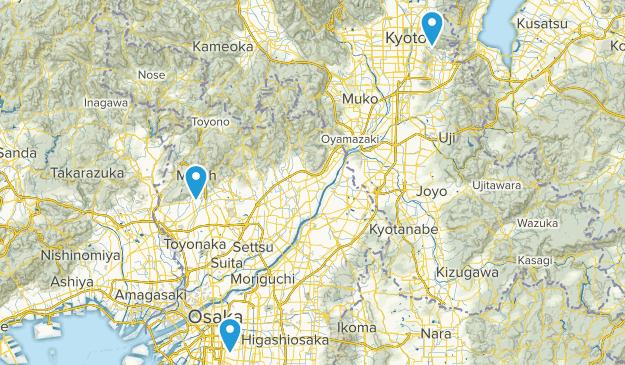 Osaka, Japan Map