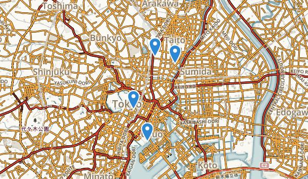 Tokyo, Japan Map