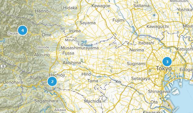 Tokyo, Japan Cities Map