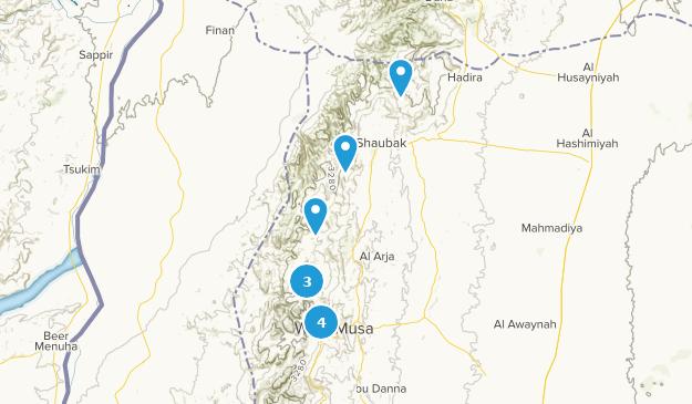 Ma'an, Jordan Cities Map