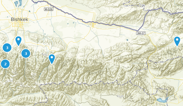Chuy, Kirgisistan Cities Map