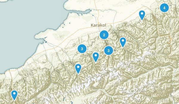 Ysyk-Köl, Kyrgyzstan Map