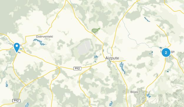Aizputes novads, Latvia Map