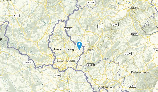Rheinland-Pfalz, Luxembourg Cities Map