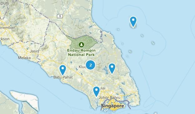 Johor, Malaysia Cities Map