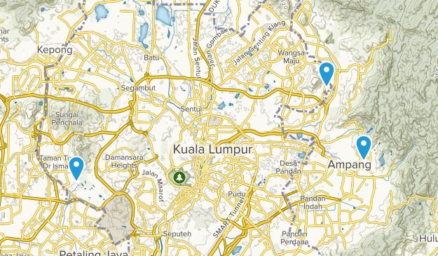 Kuala Lumpur, Malaysia Map