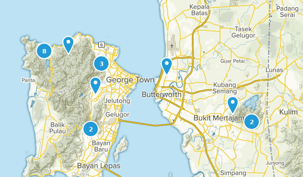 Penang, Malaysia Map