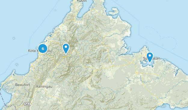 Sabah, Malaysia Map