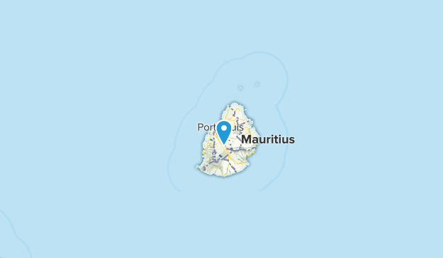 Port Louis city, Mauritius Map