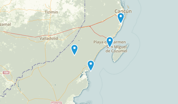 Quintana Roo, Mexico Map
