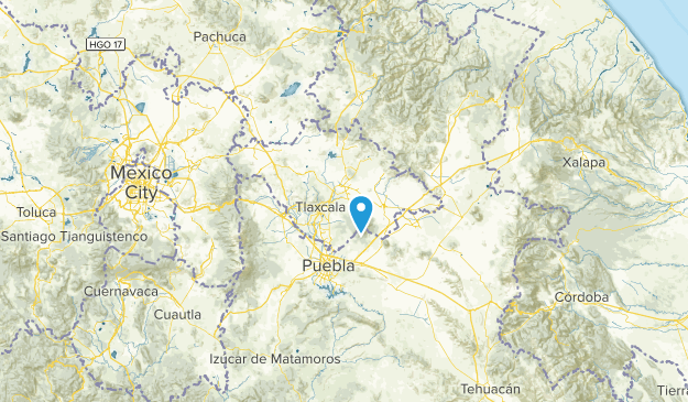 Tlaxcala, Mexico Cities Map