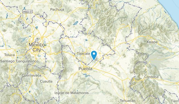 Tlaxcala, Mexiko Cities Map