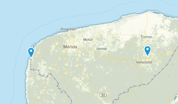 Yucatán, Mexico Cities Map