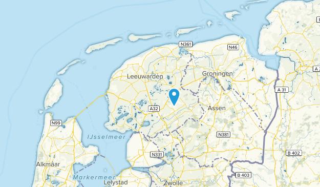 Friesland, Netherlands Map