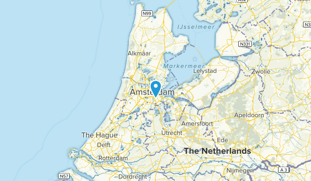 nh, Netherlands Map