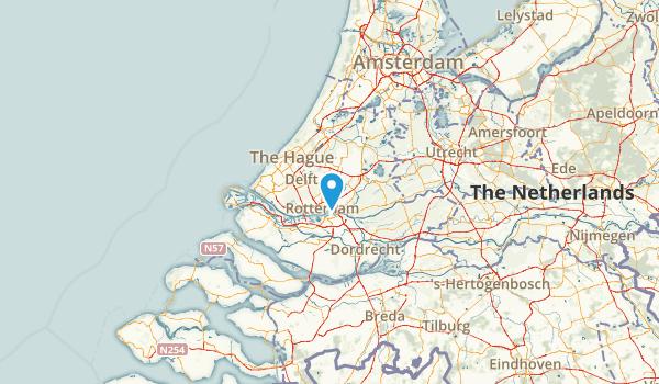 Zuid-Holland, Netherlands Map