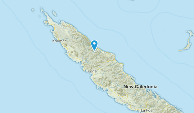 North, New Caledonia Map