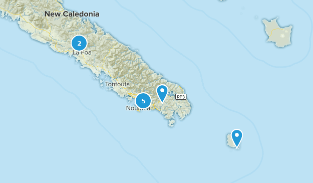 South Province, New Caledonia Map