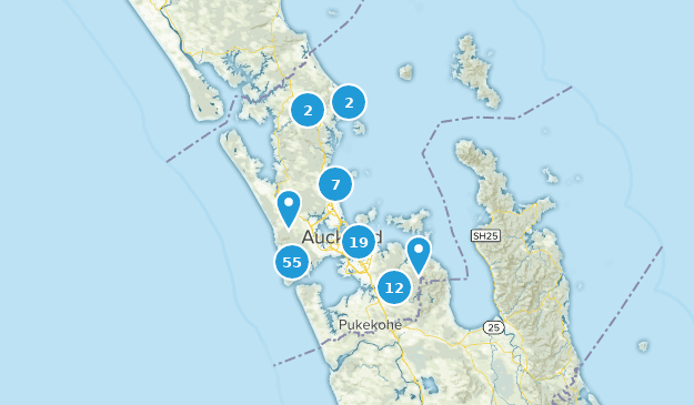 Auckland, New Zealand Map